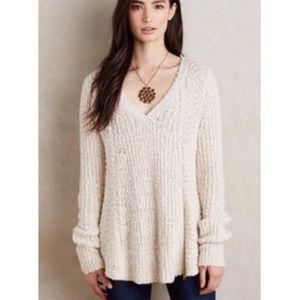 Anthropologie Moth Sweater Zipper Chunky Knit L